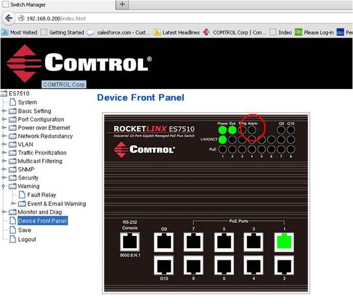 Device Front Panel - RocketLinx