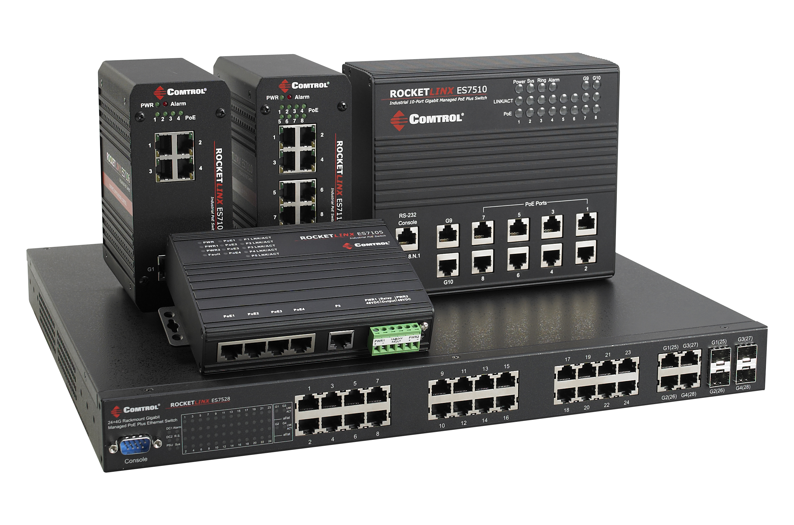 RocketLinx Industrial and PoE Switch Guides