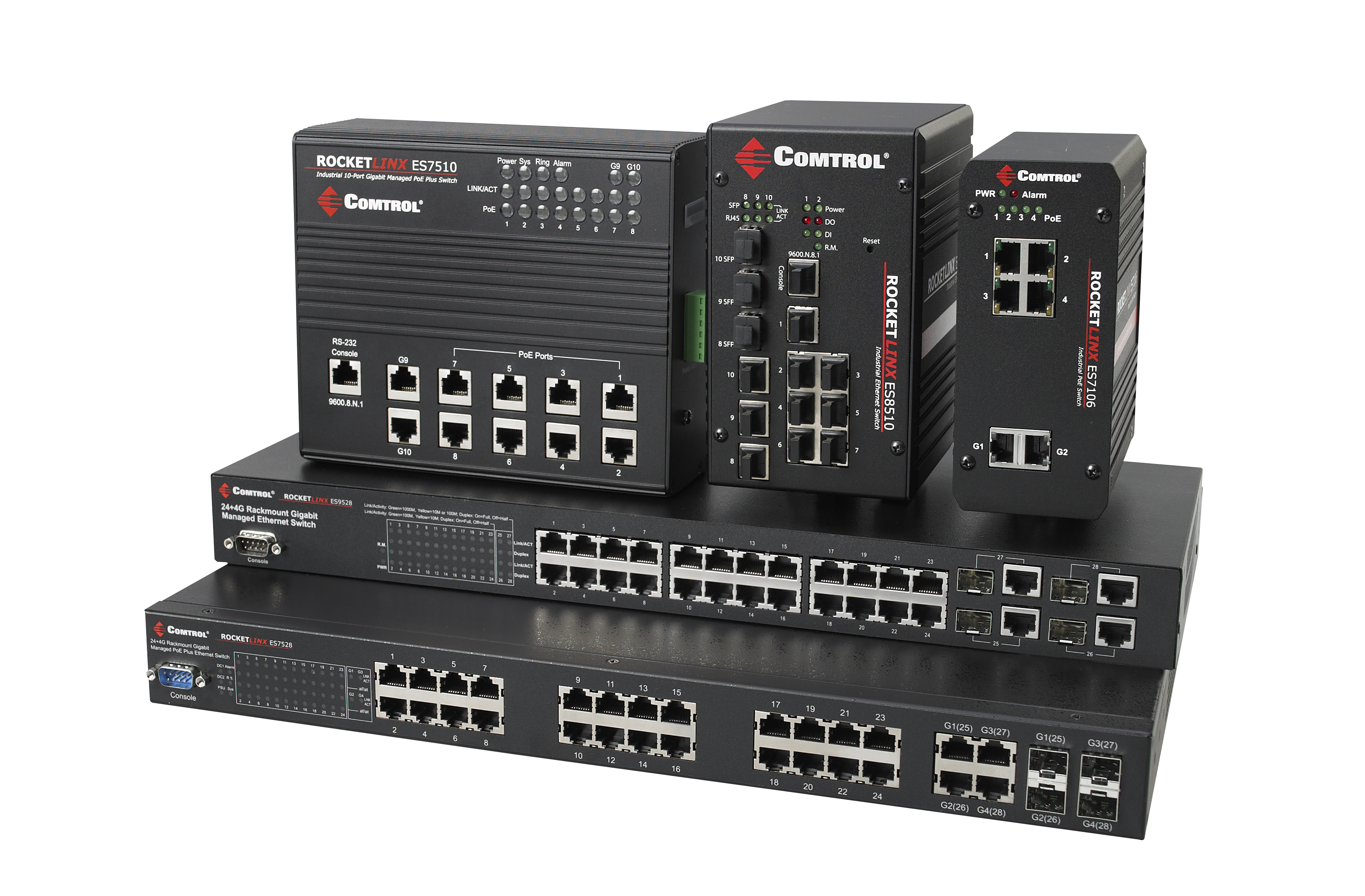 RocketLinx ES Industrial Ethernet Switches